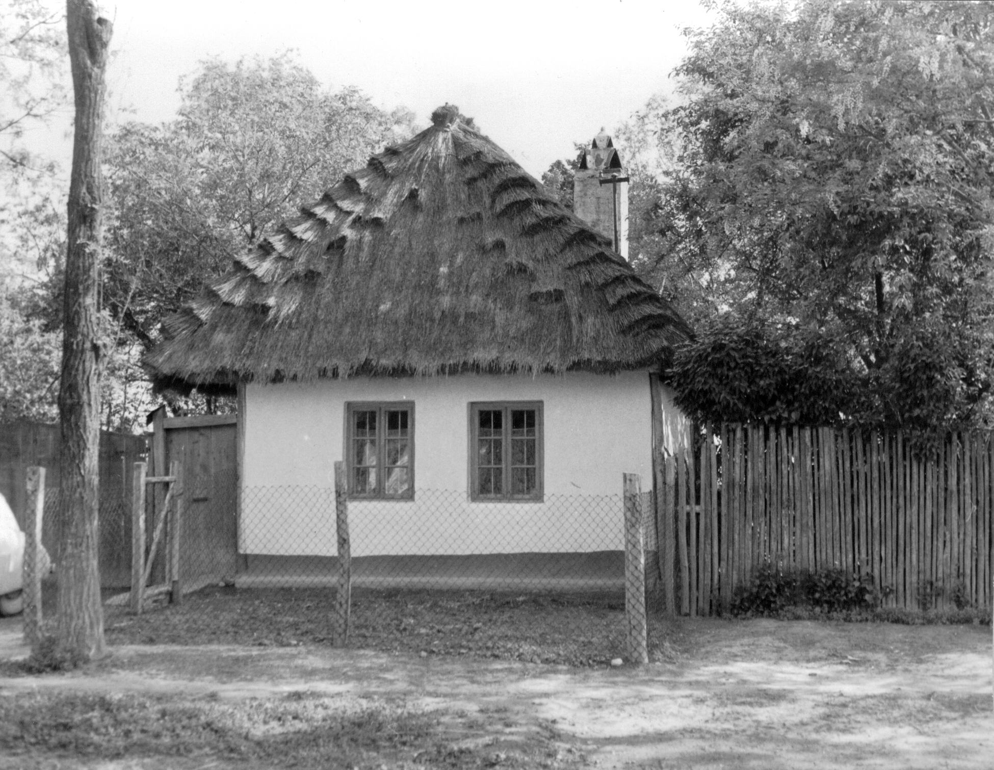 Dom so slamenou strechou Bučany 1960